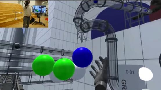 Demo of the virtual reality glove by Noitom.