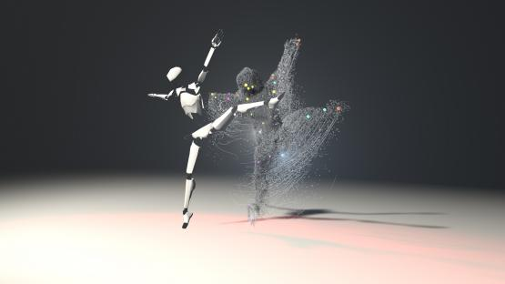 Real-time graphics software by Notch and Perception Neuron motion capture.